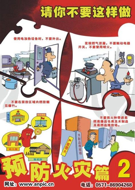 如何预防火灾挂图