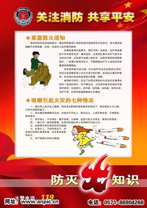 5; 办公装饰消防知识标贴海报 宣传  栏 画写真喷绘 制作 素材205,1