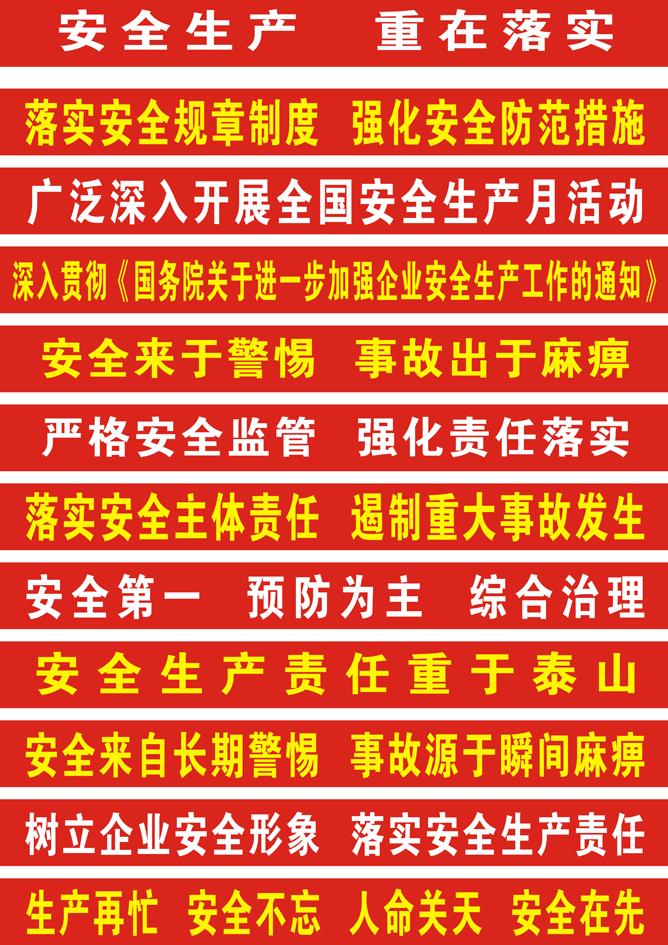 安全生产横幅标语图片